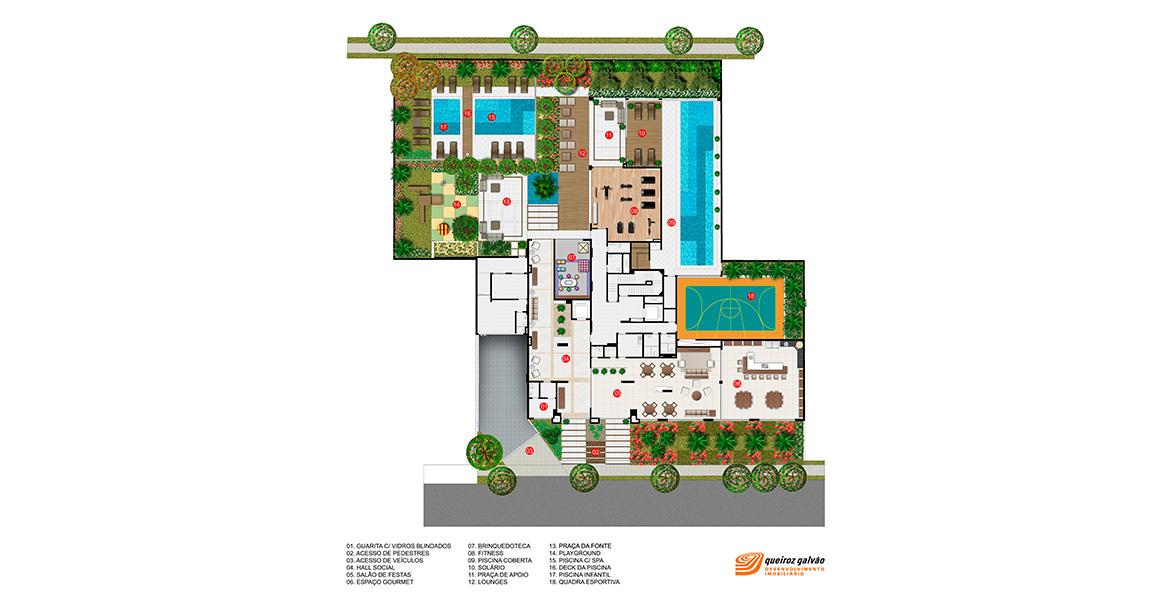 Planta do Le Klabin. floorplan