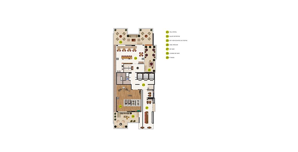 Planta do Hyper Home & Design. floorplan