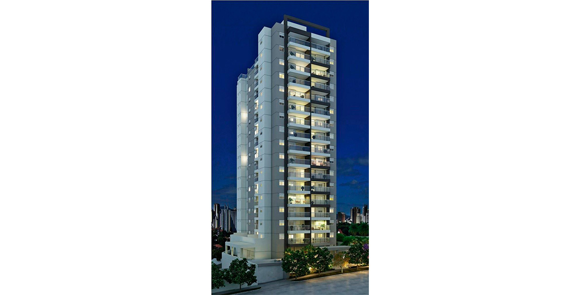 FACHADA contemporânea da única torre, construída pela Lock, que ganhou o Prêmio Master Imobiliário 2014, pelo primeiro edifício comercial sustentável do Brasil.