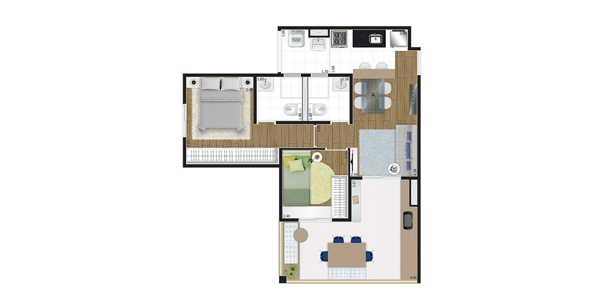 Planta do You, Now Campo Belo. floorplan