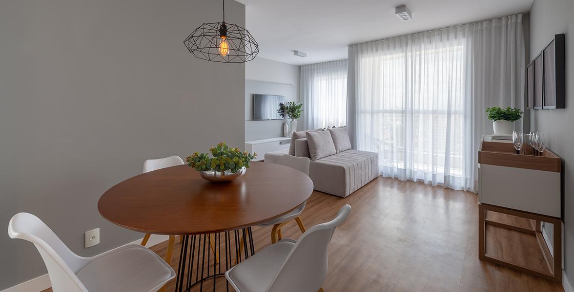 LIVING do apto de 65 m².