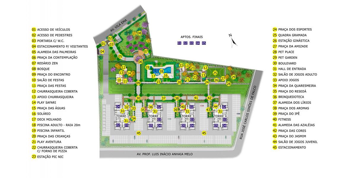 Planta do Lisse Residence. floorplan