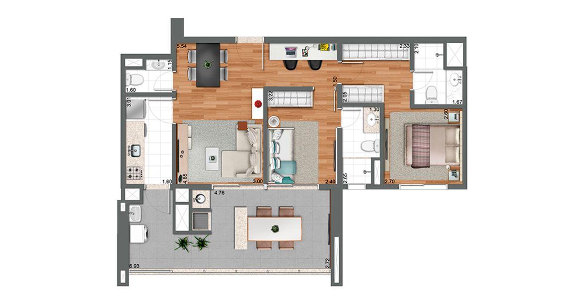 Planta do Habitarte 2. floorplan