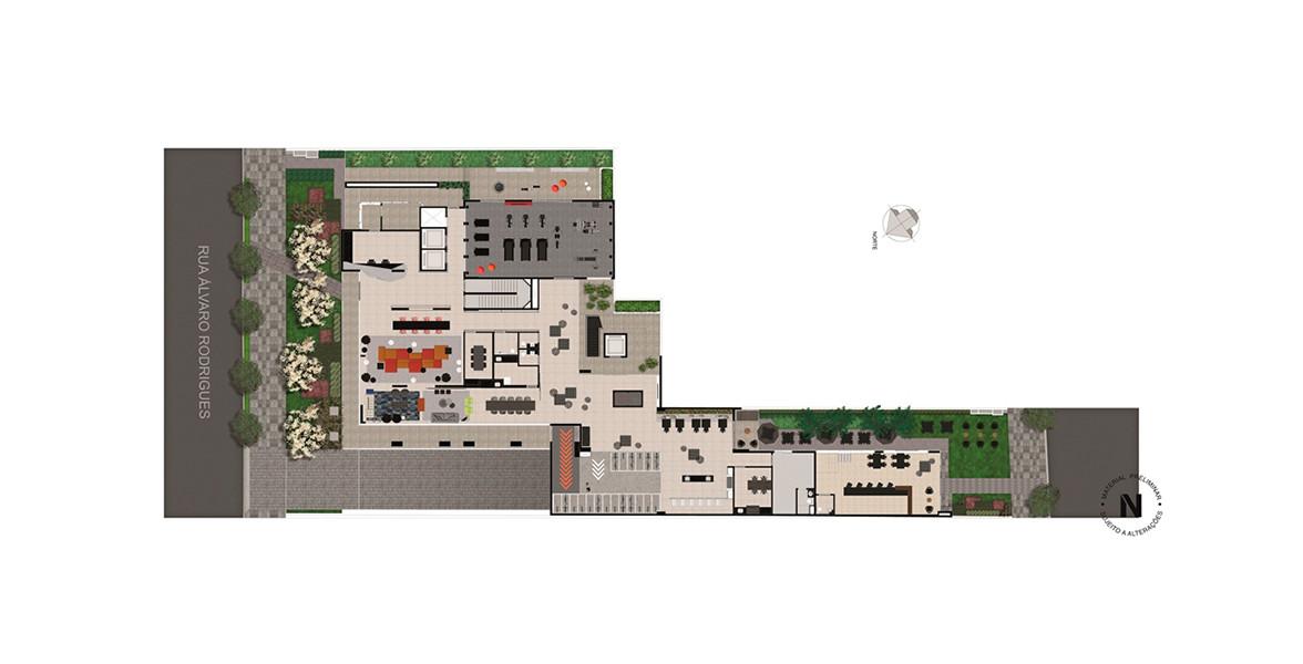 Planta do VN Álvaro Rodrigues. floorplan