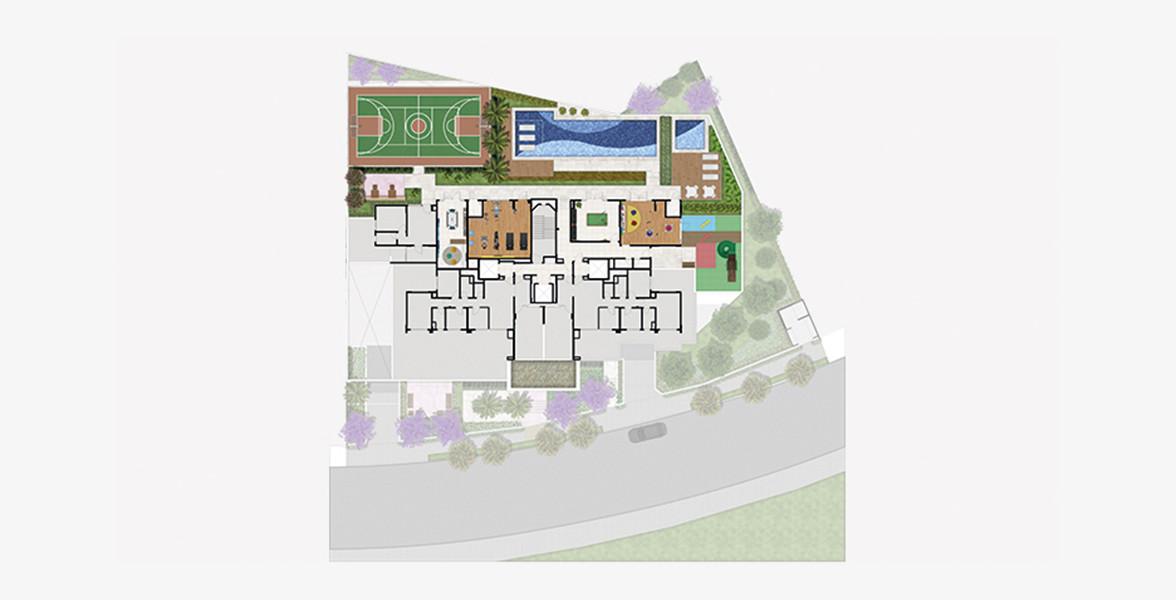 Planta do Massimo Vila Carrão. floorplan