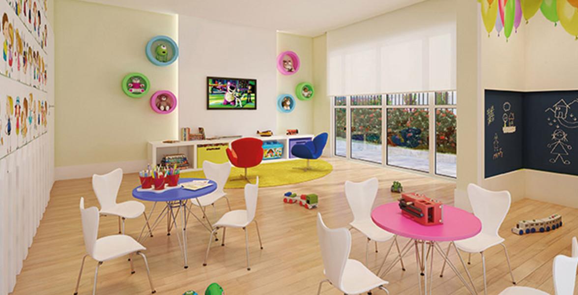 BRINQUEDOTECA com bastante espaço para você poder brincar junto com seus filhos.