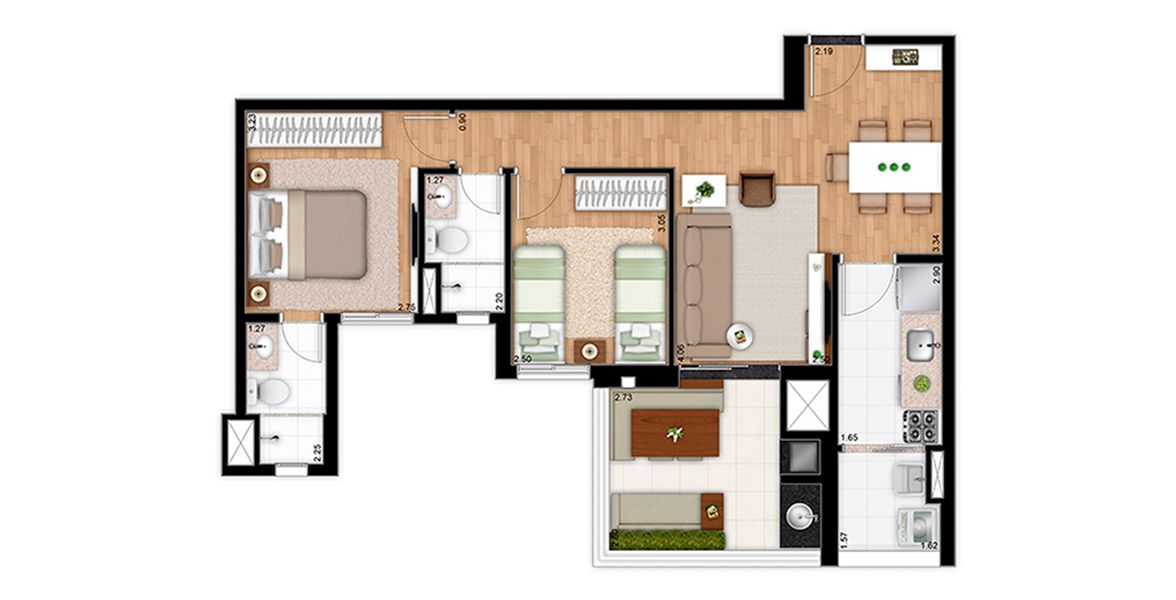 Planta do United Home. floorplan