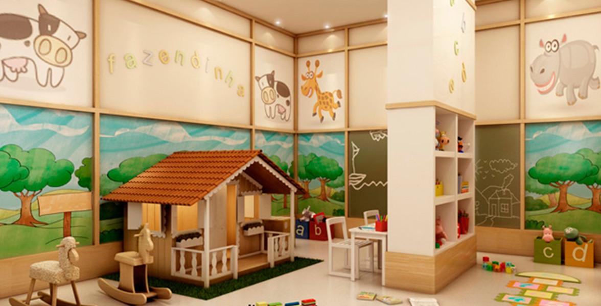BRINQUEDOTECA entregue equipada e decorada, assim como toda área comum.
