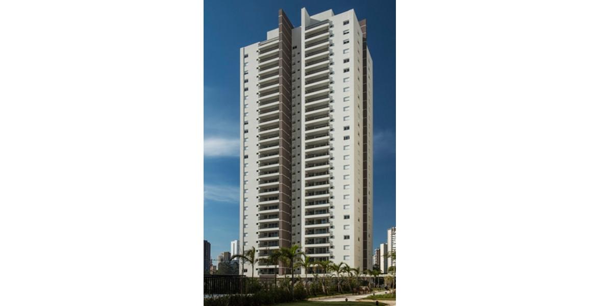 FACHADA - TORRE VERDE NATUR com aptos de 133 m², tem 2 andares a mais que as outras 2 torres.
