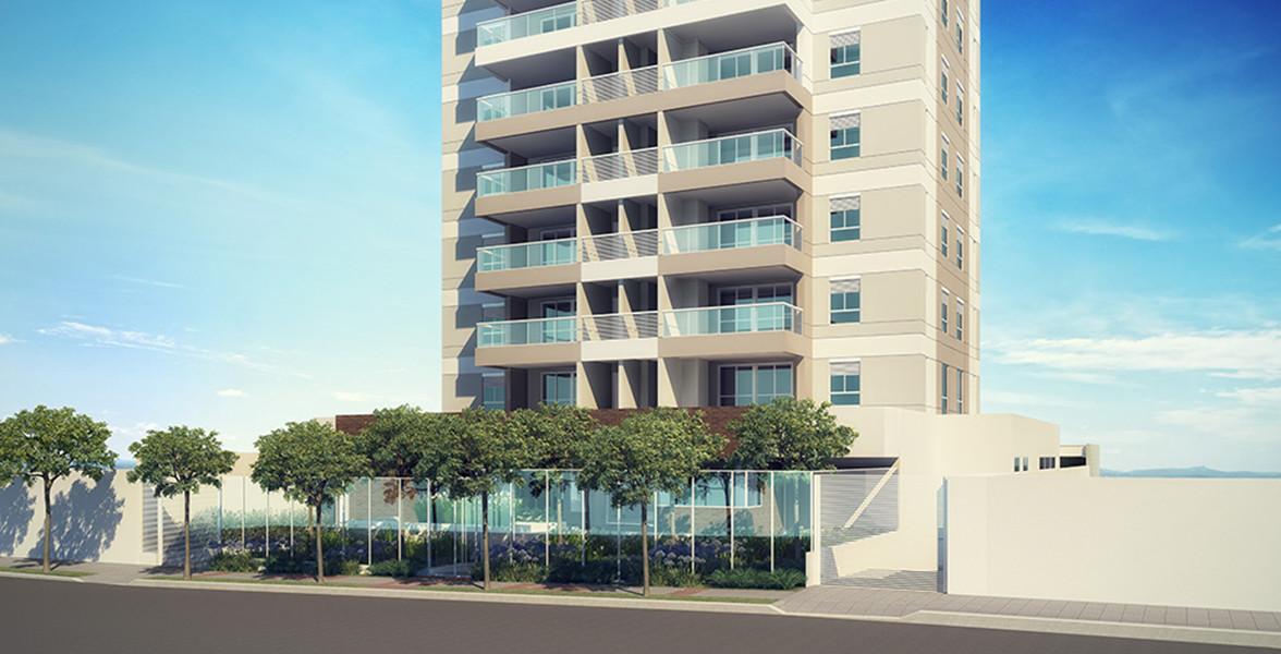 PORTARIA com parede de vidro, conferindo modernidade ao projeto.