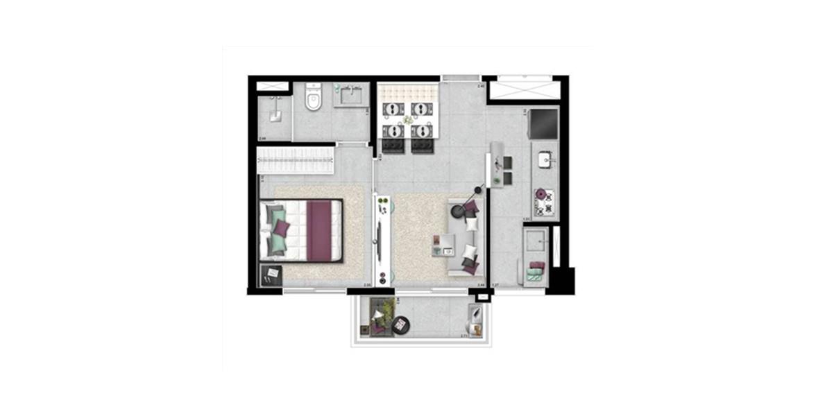 Planta do SP New Home. floorplan
