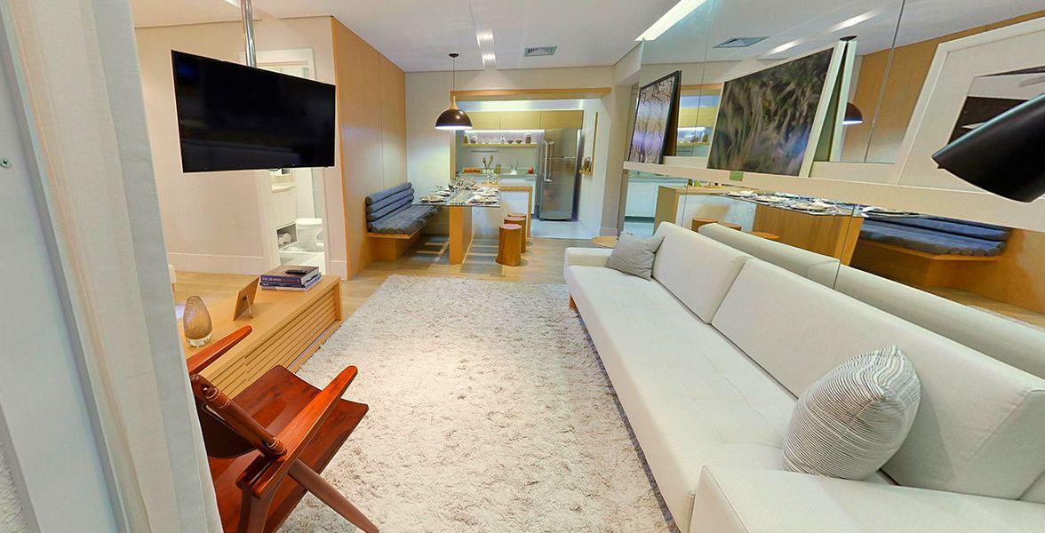 LIVING do apto de 71 m².