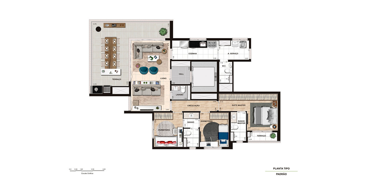 Planta do Scena Alto da Lapa. floorplan