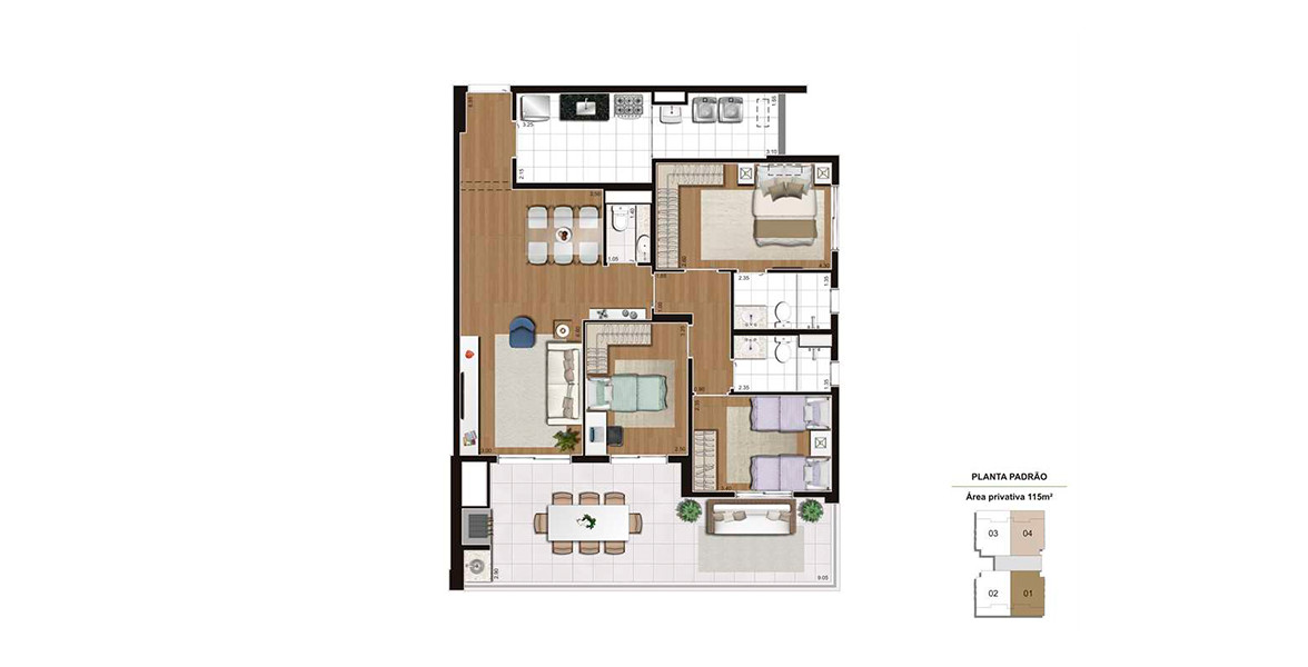 115 M² - 3 DORMS., SENDO 1 SUÍTE. Apartamento no Ipiranga com 3 dormitórios, sendo 1 ótima suíte para o casal com infraestrutura para ar-condicionado, boa área para armário e banheiro ventilado naturalmente. 2 vagas demarcadas.