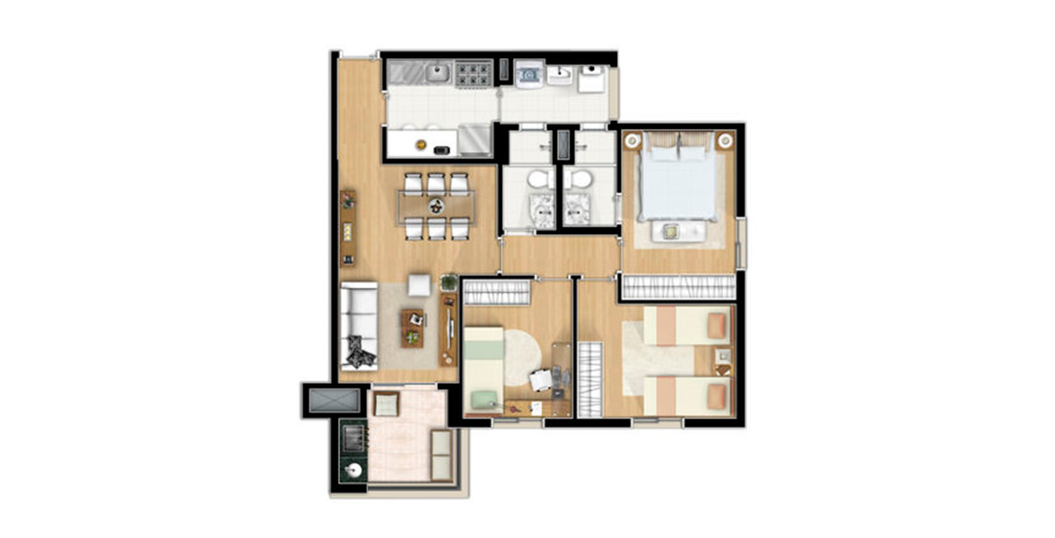 Planta do Viverde. floorplan