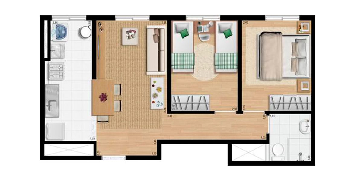 Planta do Flex Carapicuíba 4. floorplan