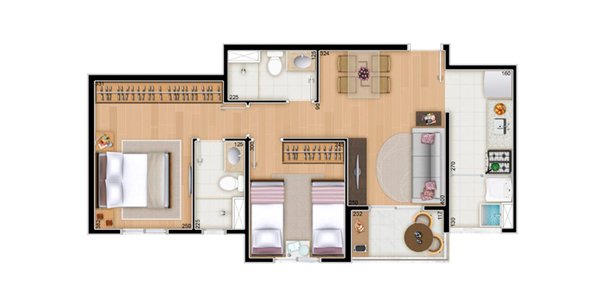 Planta do Vita Home Club. floorplan