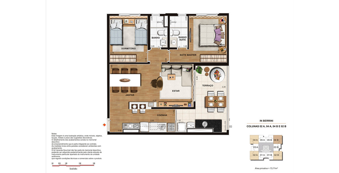 Planta do In Berrini. floorplan