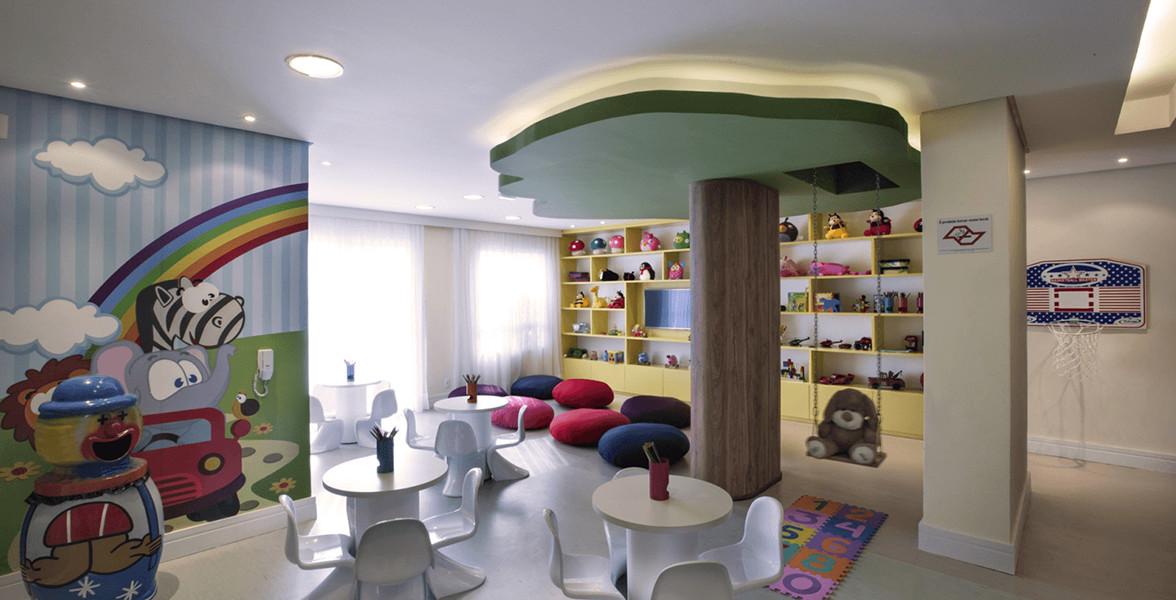 BRINQUEDOTECA já entregue equipada e decorada, assim como todas as áreas de lazer do Essencis Alto da Lapa.