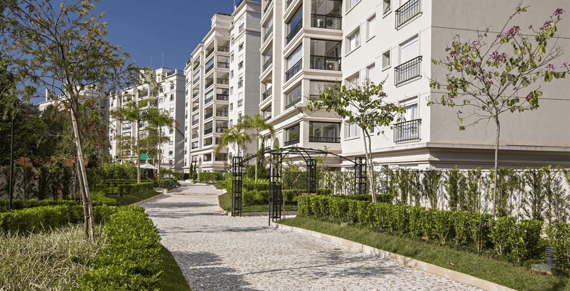 ACESSO ÀS TORRES com orangeries e paisagismo projeto por Benedito Abbud.