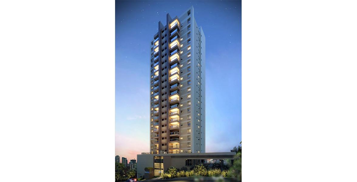 FACHADA da única torre com 20 andares, além dos 4 sobressolos.
