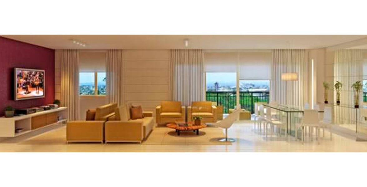 LIVING AMPLIADO do apto de 172 m² visto a partir do hall de entrada, tem uma ótima boca de sala de 9 metros.