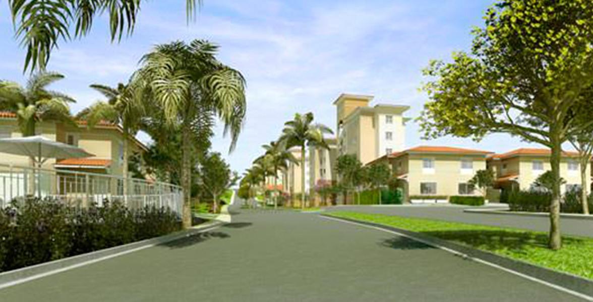 CONDOMÍNIO FECHADO com casas e apartamentos no Bosques da Vila.