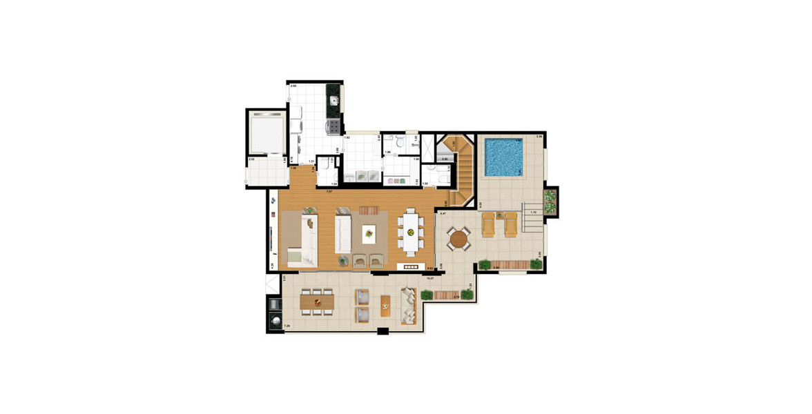 Planta do Summer Family Resort. floorplan