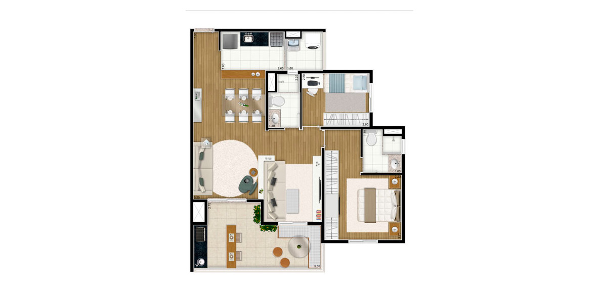 Planta do You, Bosque da Saúde. floorplan