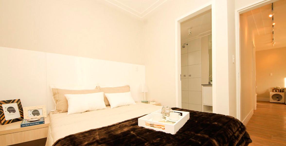DORMITÓRIO DO CASAL do apto de 64 m² com banheiro com ventilação natural do You, Vila Formosa