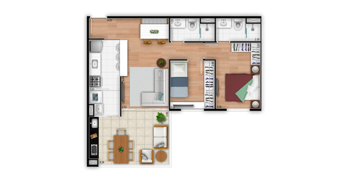 Planta do Atmosphere Guarulhos. floorplan