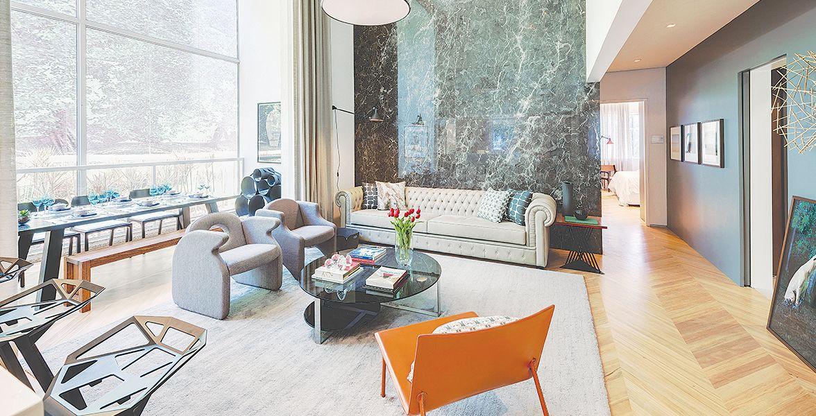 DECORADO do apto de 100 m² com infraestrutura para ar-condicionado e automação residencial, permitindo que você crie cenas pré-programadas.