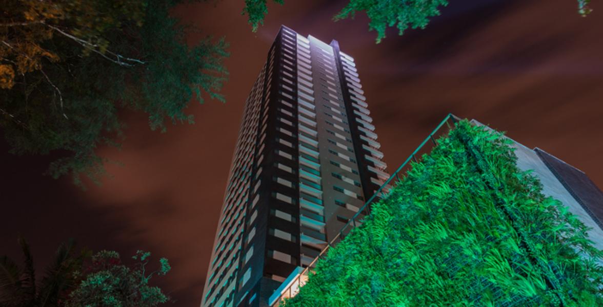 FACHADA da única torre com um apartamento por andar.