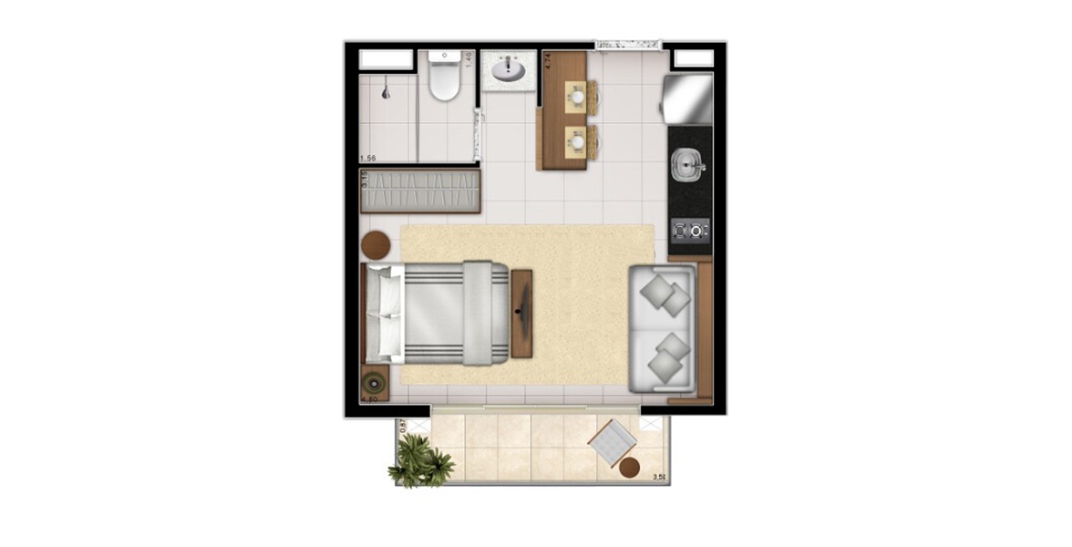 Planta do Linea Perdizes. floorplan