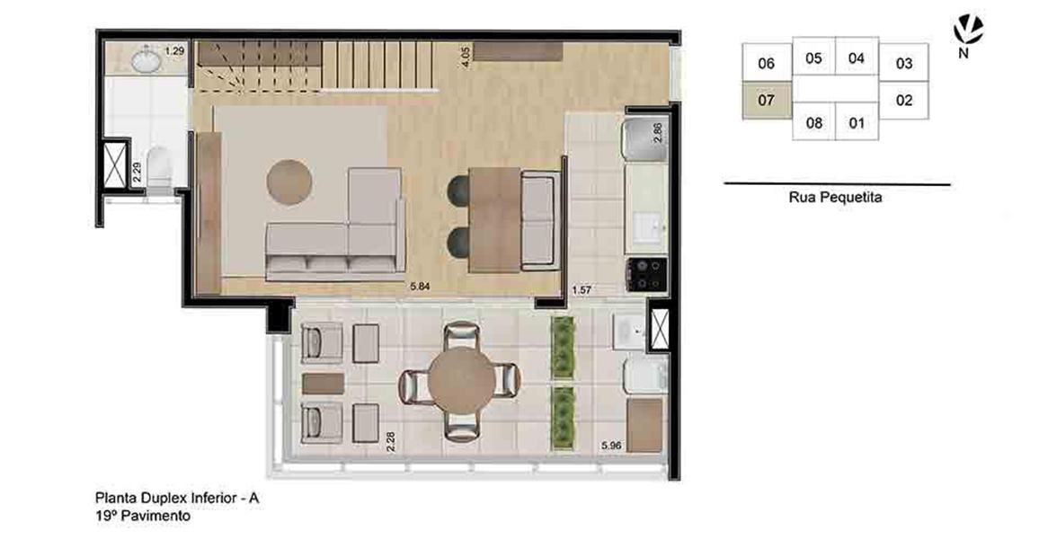 Planta do One Eleven Home by Helbor. floorplan