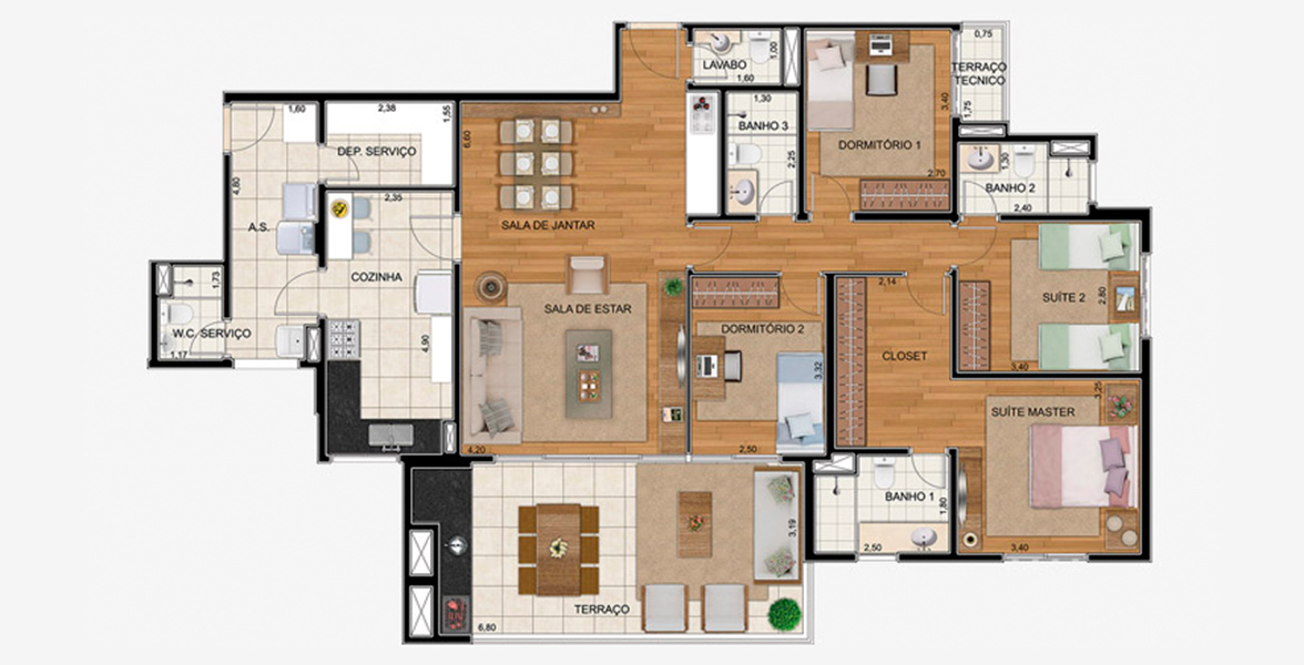 Planta do Royale Merit. floorplan