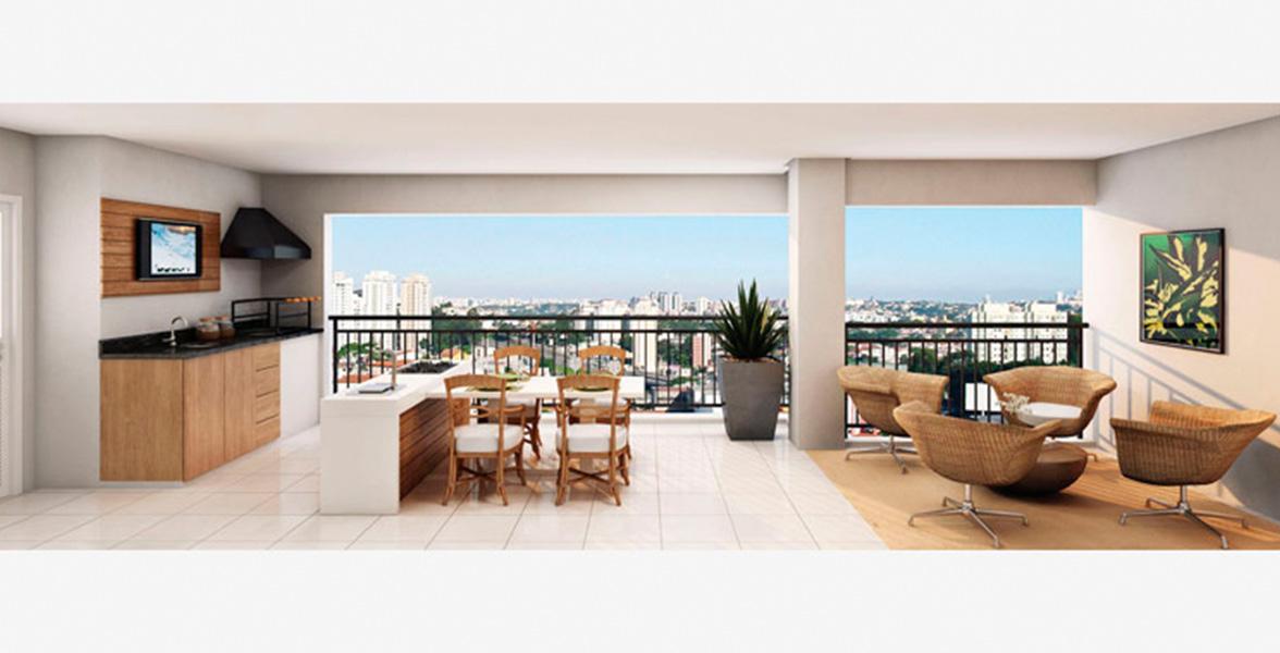 TERRAÇO GOURMET do apto de 192 m² bem amplo, tem mais de 7 metros de frente do Royale Prestige