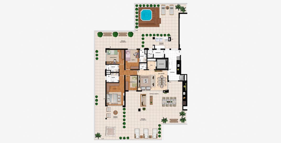 Planta do Splendor Vila Mariana. floorplan