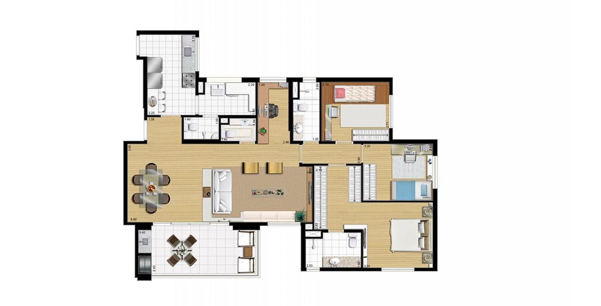 Planta do Domo Life. floorplan