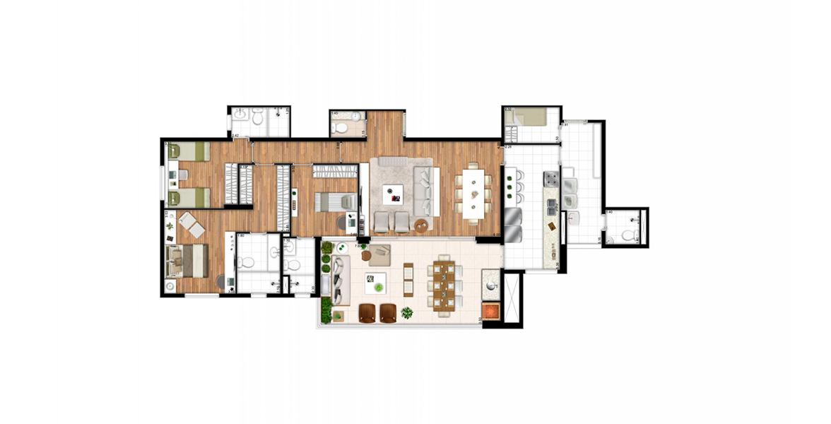 Planta do L'Essence Mooca. floorplan