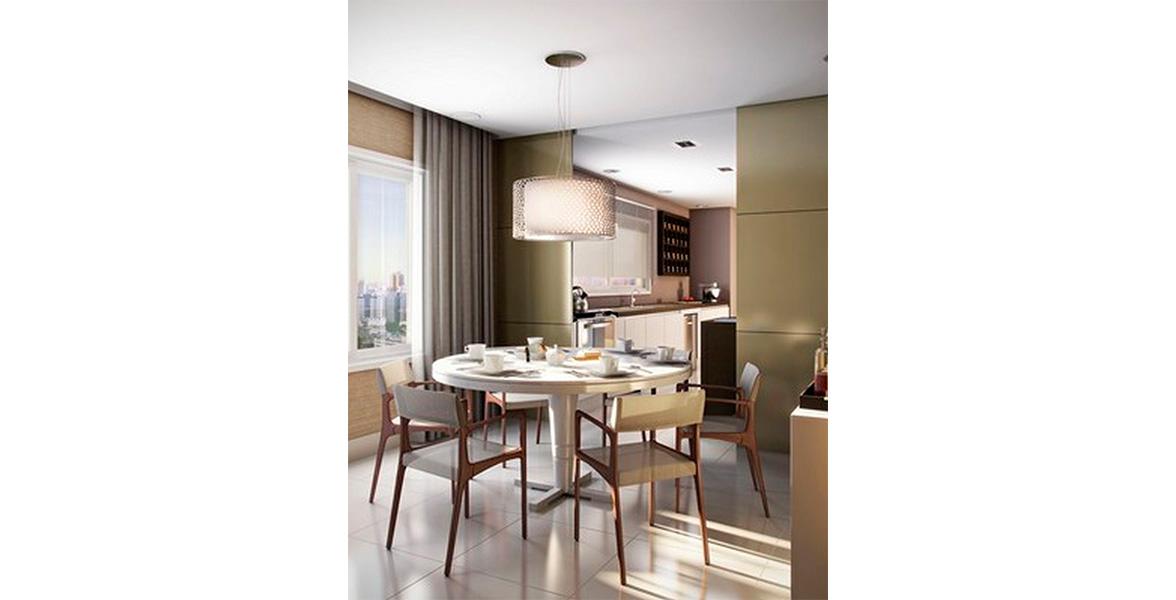 COPA que conecta a Cozinha ao Living do London Blue