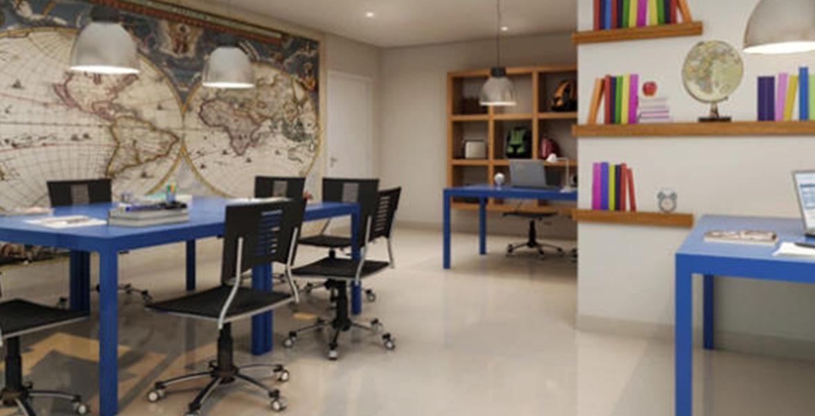 HOME OFFICE para seus dias de home office, podendo até organizar reuniões de vez em quando.
