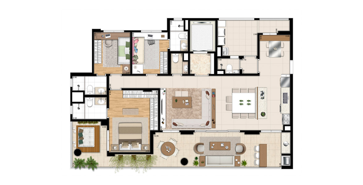 Planta do Storia Ibirapuera. floorplan