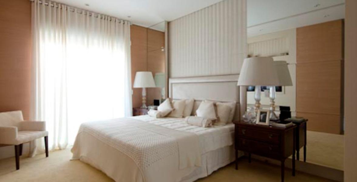 SUÍTE MASTER com closet, terraço íntimo e possibilidade de ampliação do The Penthouses Tamboré