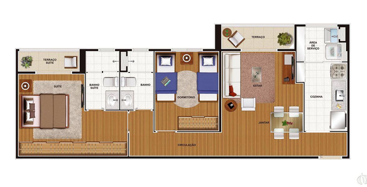63 M² - 2 DORMS., SENDO 1 SUÍTE. Apartamento no Jaguaré com excelente suíte do casal com ampla área para armário (a mulherada adora!) e terraço íntimo, proporcionando maior entrada de luz natural. Pode ser feita uma cozinha americana.