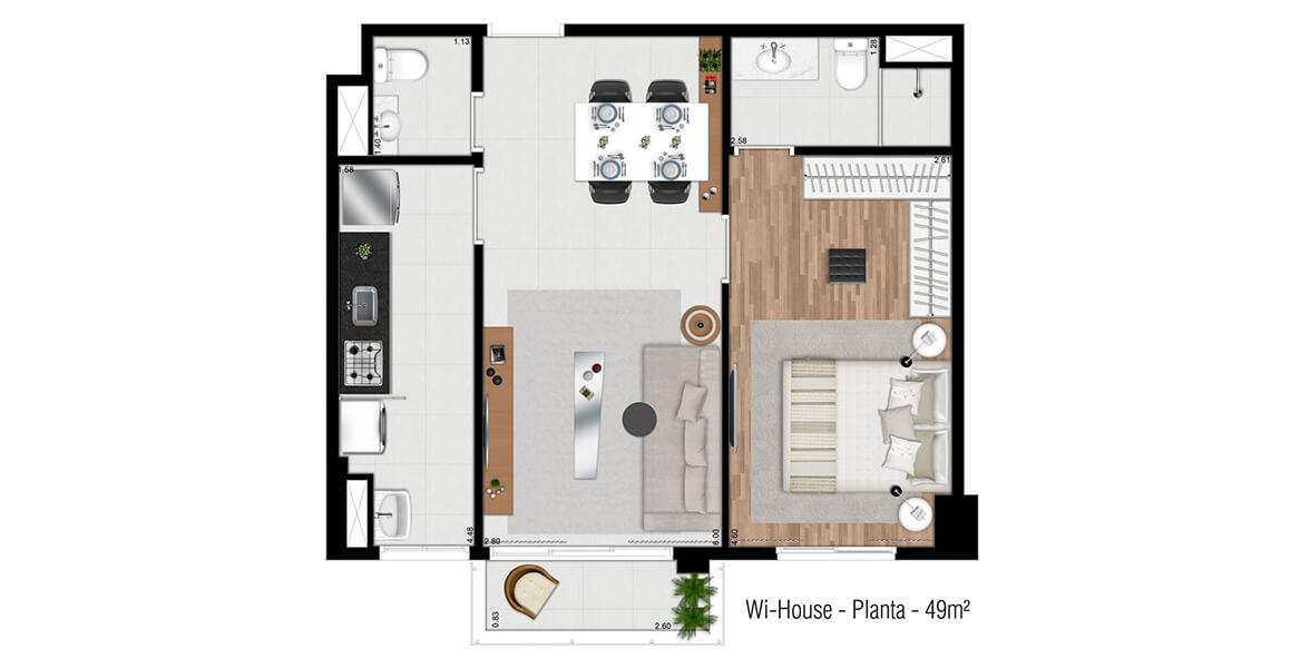 Planta do Wi-House Alphaville. floorplan