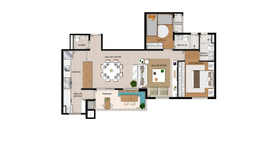 Planta do Vox Residencial. floorplan
