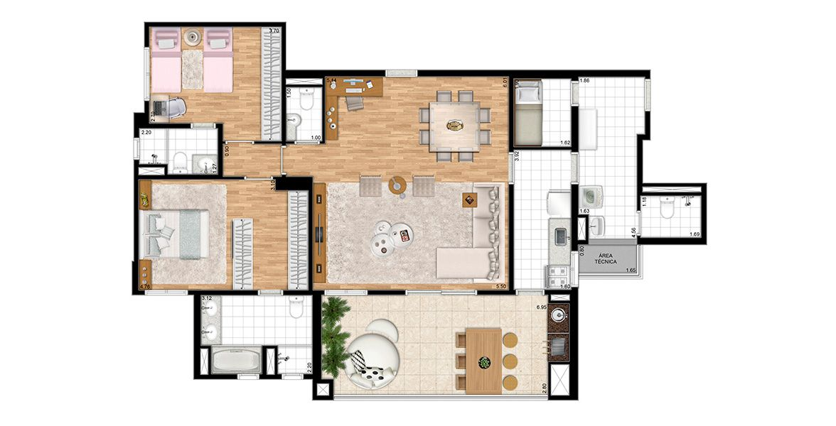 Planta do Alta Vista Premium. floorplan