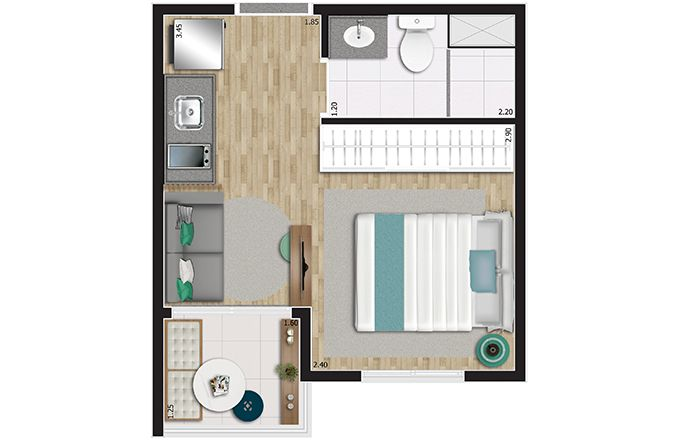 Planta do You, Link Paulista. floorplan