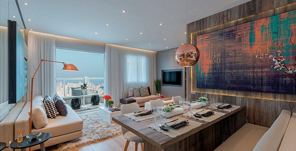 LIVING do apto de 68 m²